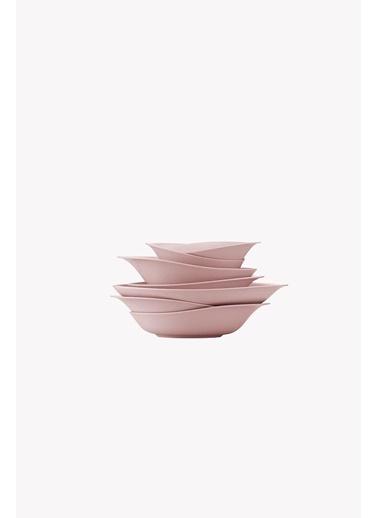 Kütahya Porselen Rosa 29 Parça Yemek Takımımat Pembe Renkli